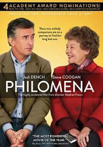 dvd cover Philomena with Judi Dench & Steve Coogan